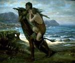 Fisherman and Mermaid 34 by  Elihu Vedder (Painting ID: CL-0834-KA)