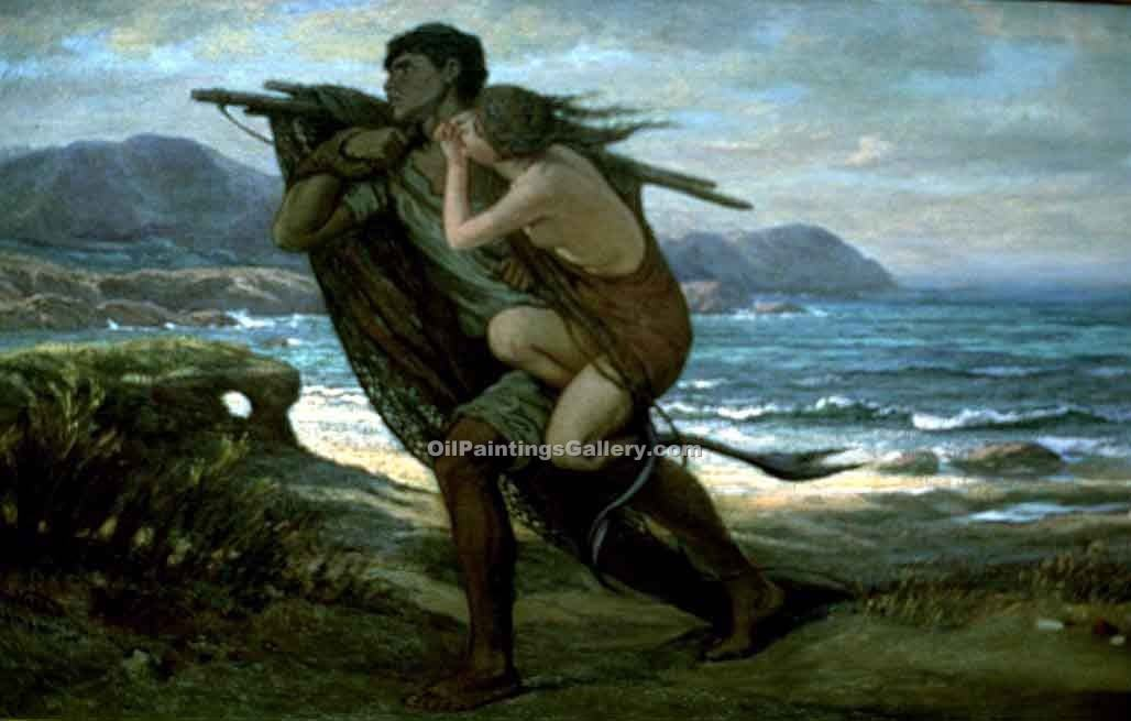 """Fisherman and Mermaid 34"" by  Elihu Vedder"
