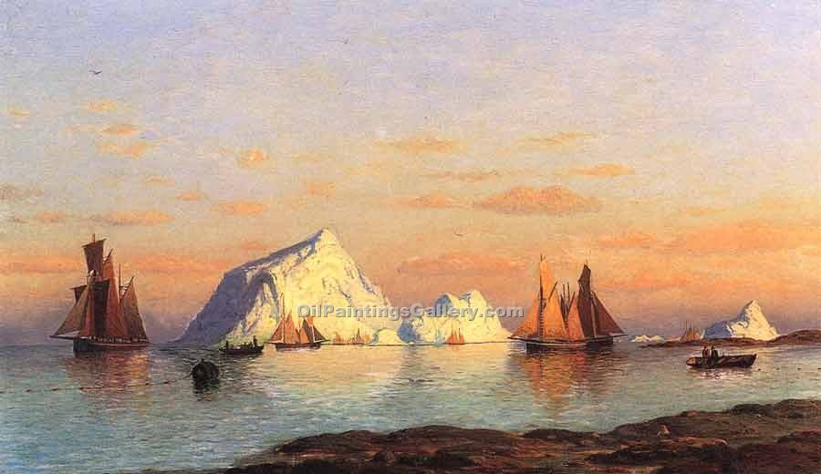 """Fishermen off the Coast of Labrador"" by  William Bradford"