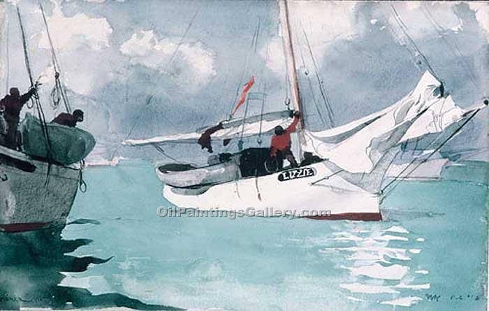 """Fishing Boats Key West"" by  Winslow Homer"