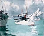 Fishing Boats Key West by  Winslow Homer (Painting ID: LA-1864-KA)