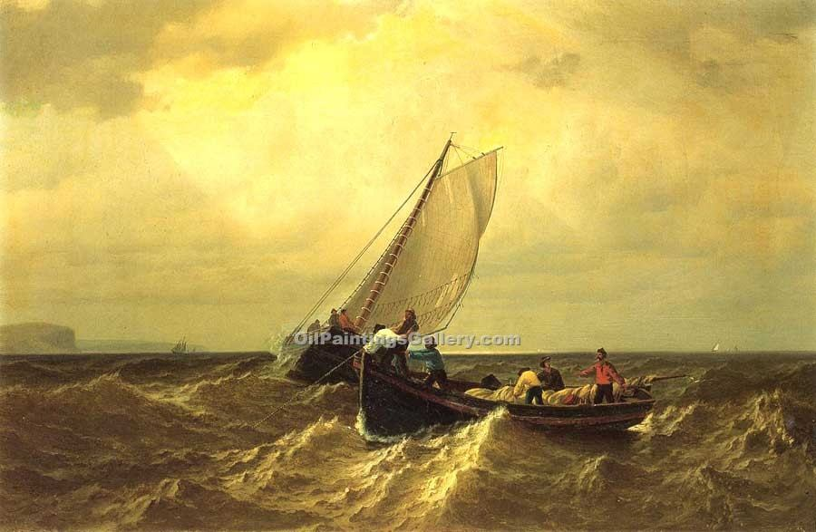 """Fishing Boats on the Bay of Fundy"" by  William Bradford"