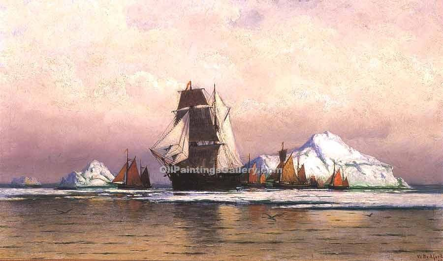"""Fishing Fleet off Labrador 43"" by  William Bradford"