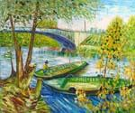 Fishing in Spring by  Vincent Van Gogh (Painting ID: VG-0334-KA)