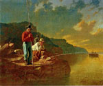 Fishing on the Mississippi by  George Caleb Bingham (Painting ID: LA-2355-KA)