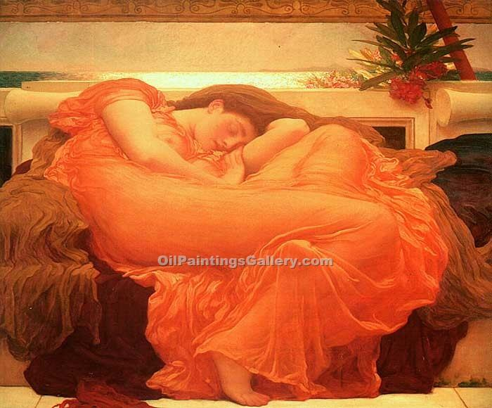 """Flaming June"" by   Leighton Frederic"