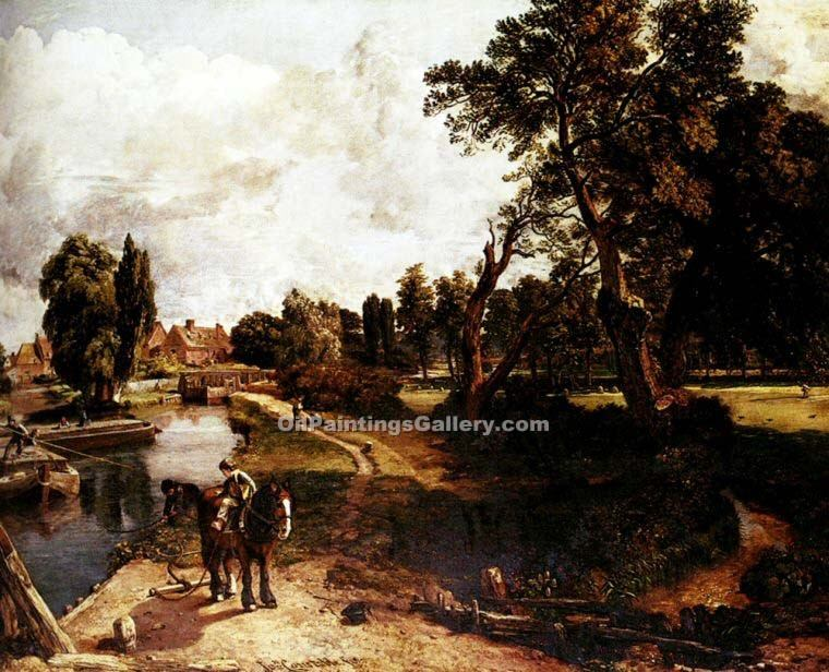 """Flatford Mill"" by  John Constable"