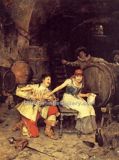"""Flirtation in the Wine Cellar"" by  Federico Andreotti"