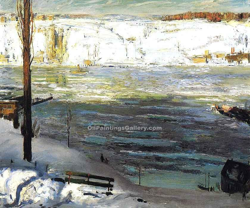 """Floating Ice"" by  George Bellows"