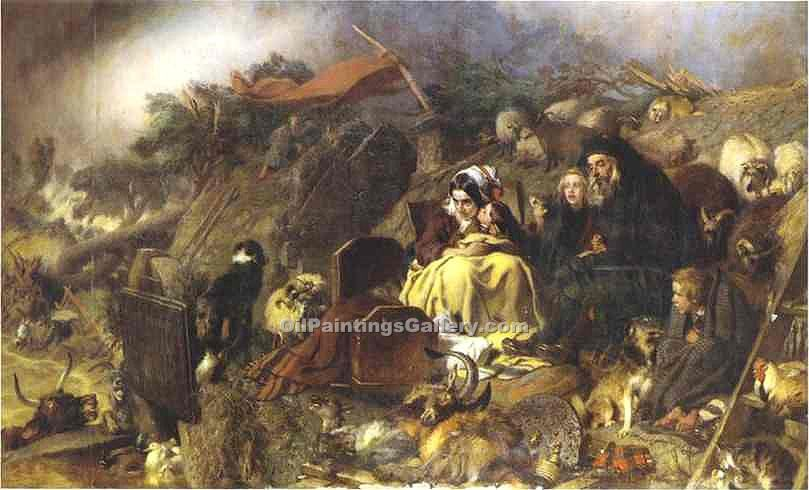 Flood in the Highlands by Sir Edwin Henry Landseer | Abstract Art Online - Oil Paintings Gallery