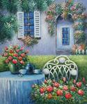 Floral Patio 80  (Painting ID: LA-3180-A)