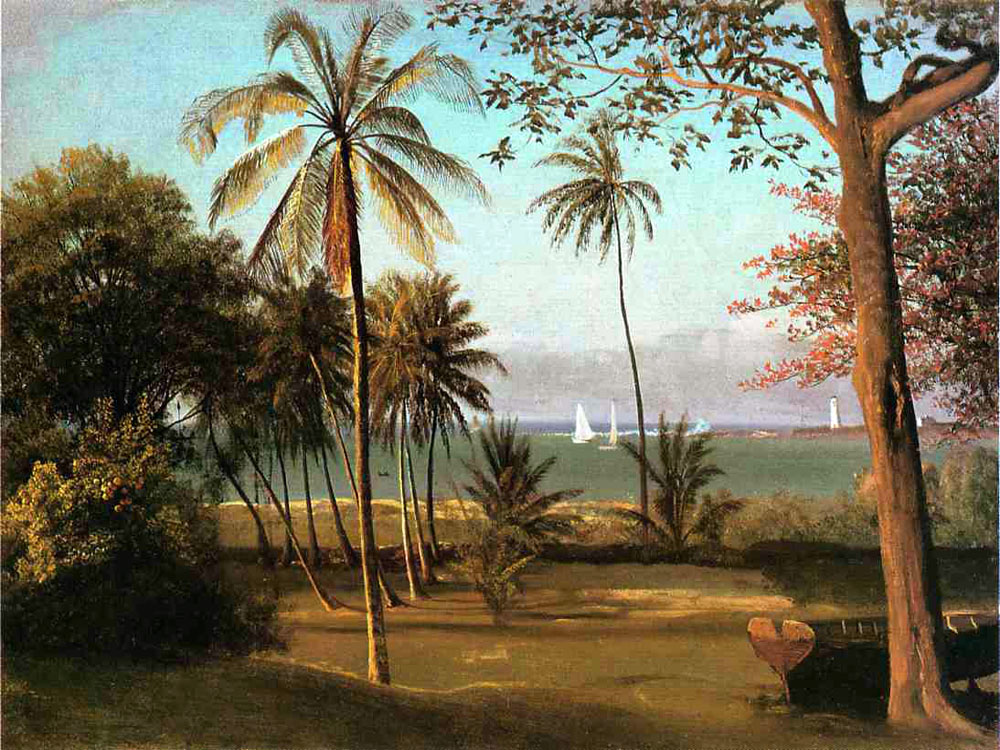 """Florida Scene"" by  Albert Bierstadt"