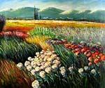 Flower Field in Tuscany  (Painting ID: LA-5438-KA)