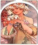 Flower by Mucha by  Alphonse Maria Mucha (Painting ID: CL-2022-KA)