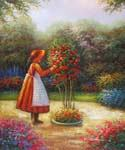 Flowered Tree  Oil Painting (ID: EI-0102-B)
