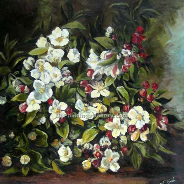 Flowering Apple Tree Branch By Gustave Courbet Painting