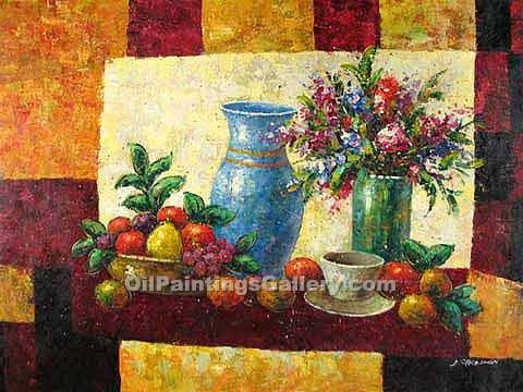 """Flowers Fruit and Vase 20"""