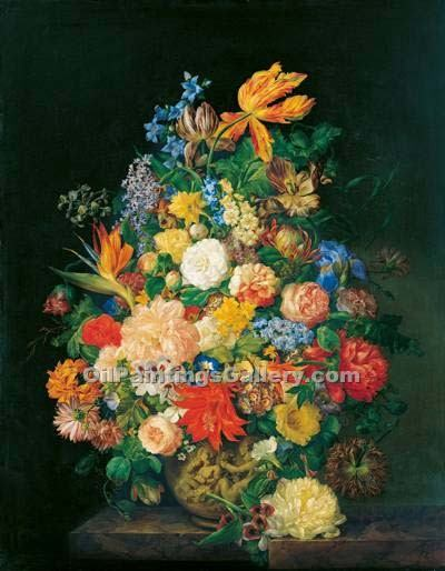 """Flowers In a Vase 07"" by  Franz Xavier Petter"