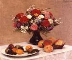 Flowers and Fruit 53 by  Henri Fantin Latour (Painting ID: SL-0153-KA)