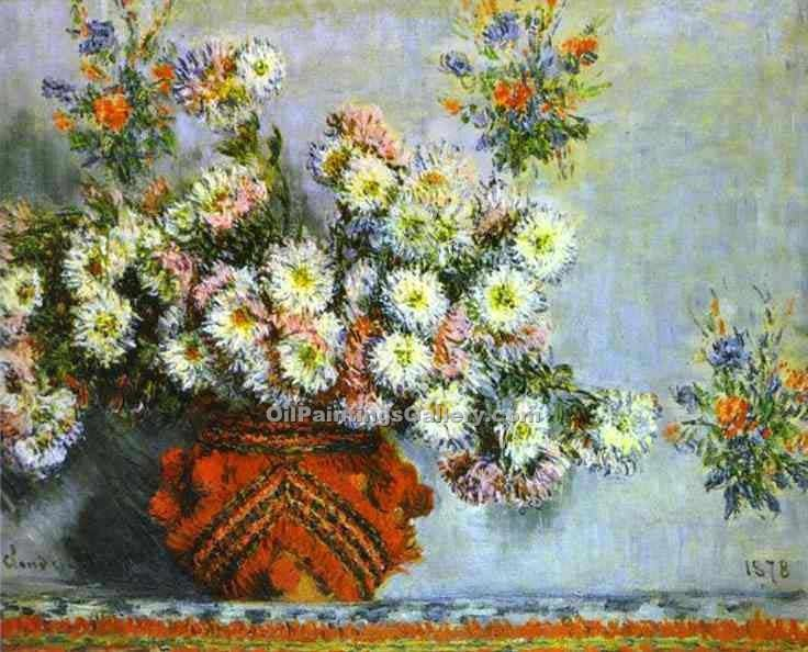 """Flowers and Fruit 90"" by  Claude Monet"