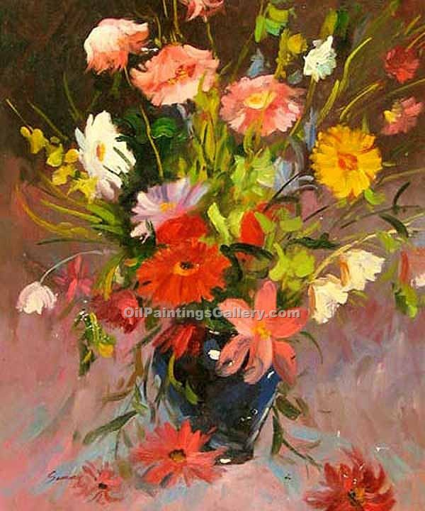 """Flowers in a Blue Vase"""