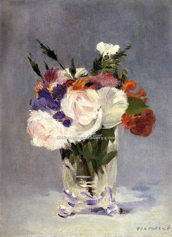 """Flowers in a Crystal Vase 1882"" by  Edouard Manet"