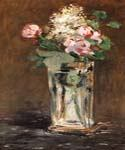 Flowers in a Crystal Vase by  Edouard Manet (Painting ID: SL-0104-KA)