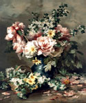 Flowers in a Vase 18 by  Francois Rivoire (Painting ID: SL-0018-KA)