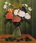 Flowers in a Vase 75 by  Henri Rousseau (Painting ID: SL-0075-KA)