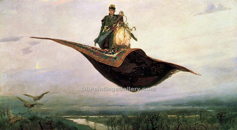 """Flying Carpet"" by  Viktor  Mikhailovich Vasnetsov"