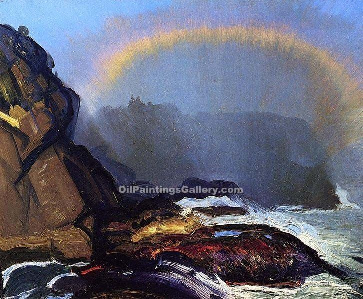 Fog Rainbow 38 by George Bellows | Oil Paintings Website - Oil Paintings Gallery