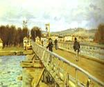 Footbridge at Argenteui by  Alfred Sisley (Painting ID: LA-0359-KA)