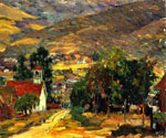 Foothill Village by  Joseph Kleitsch (Painting ID: LA-2748-KA)