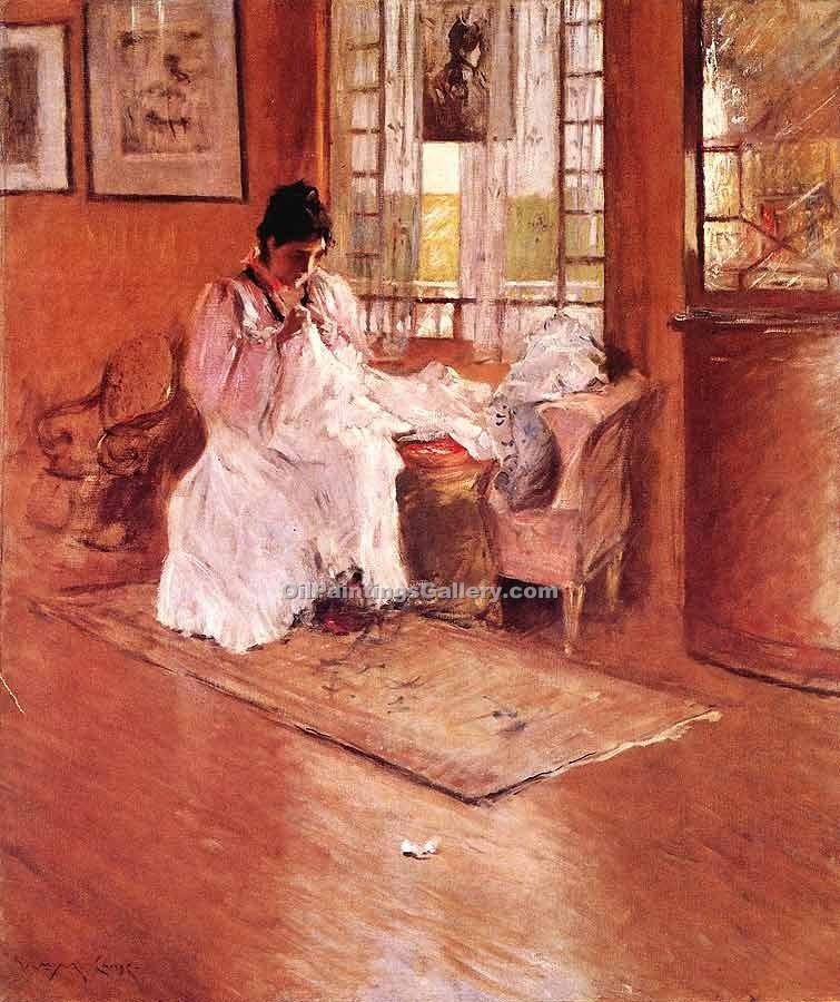 For the Little one by William Merritt Chase | Oil Painting Landscapes
