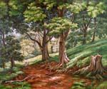 Forest Path Oil Painting (ID: LA-5982-C)