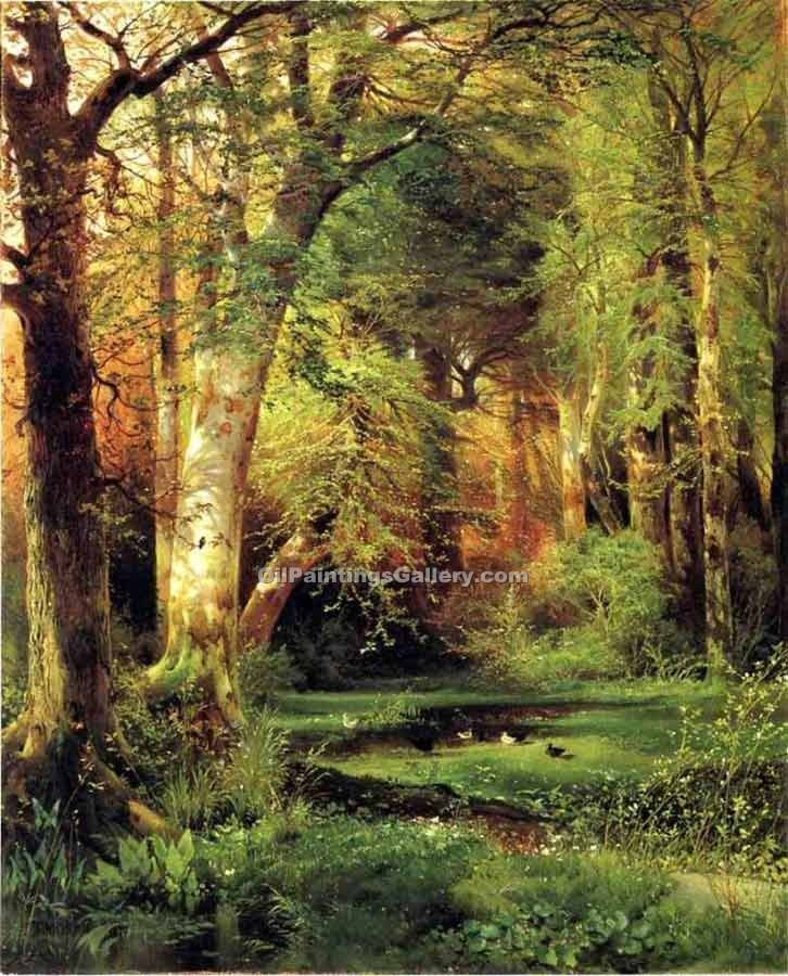 """Forest Scene"" by  Thomas Moran"