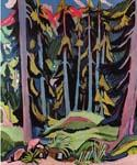 Forest with Brook by  Ernst Ludwig Kirchner (Painting ID: LA-0992-KA)