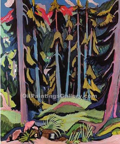 """Forest with Brook"" by  Ernst Ludwig Kirchner"