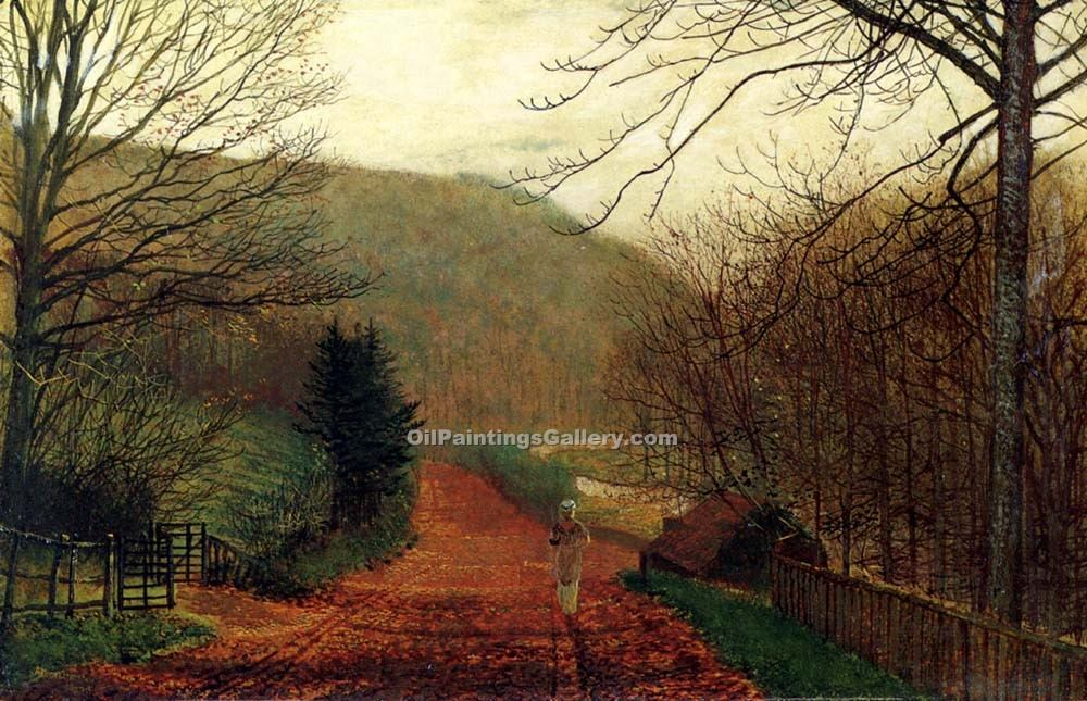 """Forge Valley, Scarborough"" by  John Atkinson Grimshaw"