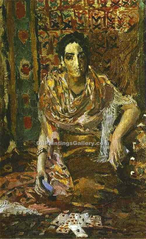 Fortune Teller 16 by Mikhail Aleksandrovich Vrubel | Paintings Reproduction - Oil Paintings Gallery