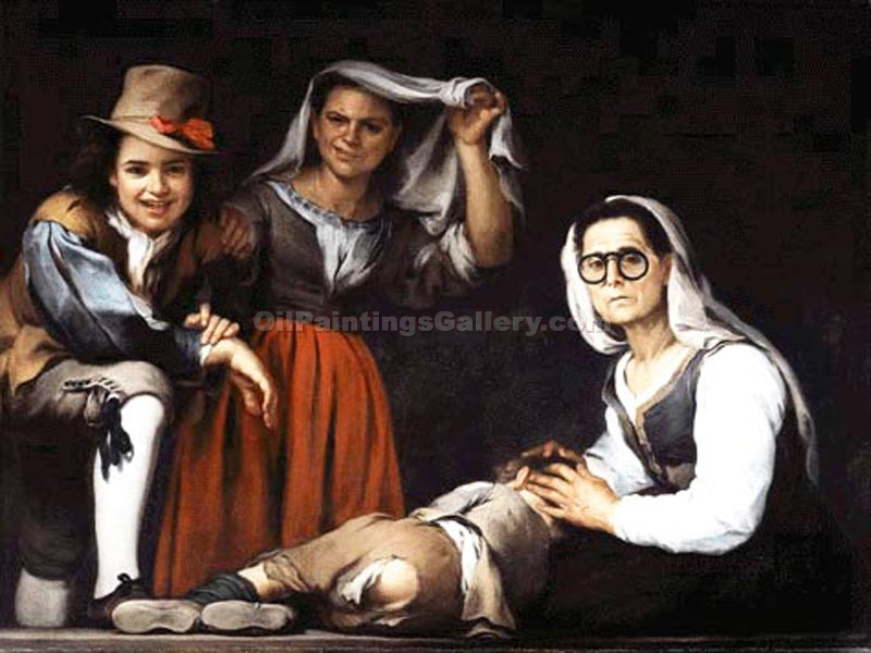 Four Figures by Murillo Bartolome Esteban | Paintings Of Famous Artists - Oil Paintings Gallery