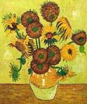 Fourteen Sunflowers in a Vase  by  Vincent Van Gogh (Painting ID: VG-0400-KA)