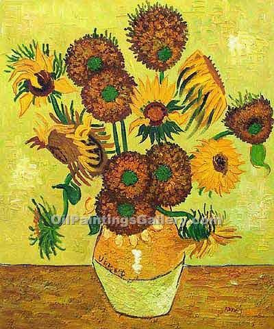 Fourteen Sunflowers In A Vase By Vincent Van Gogh Painting Id Vg