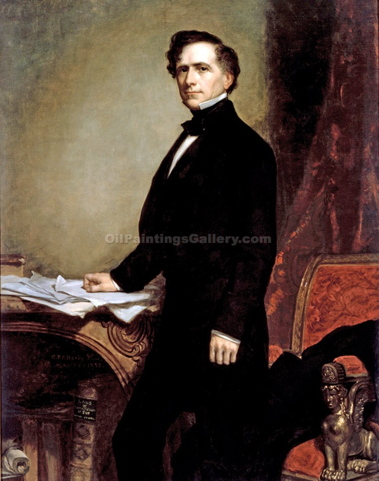 """Franklin Pierce, 14th President, Painted by George Peter Alexander Healy"""