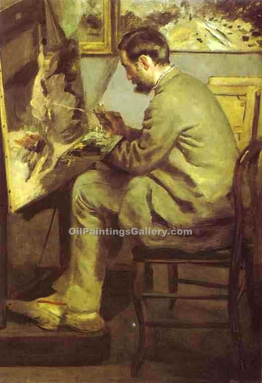 """Frederic Bazille at His Ease"" by  Pierre Auguste Renoir"