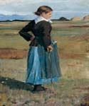 French Peasant Girl by  Frederick Childe Hassam (Painting ID: EI-0754-KA)