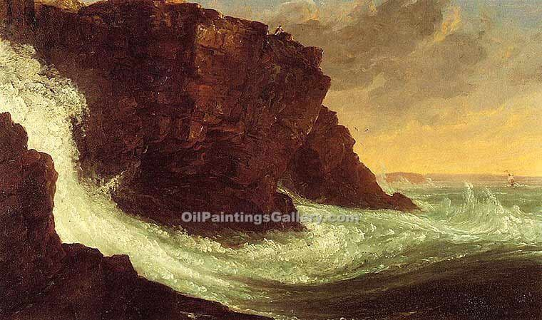 """Frenchman s Bay, Mt. Desert Island"" by  Thomas Cole"