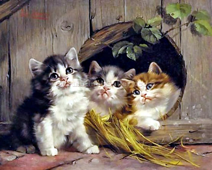 Friendly Shelter by Julius Adam | Oil On Canvas Painting - Oil Paintings Gallery