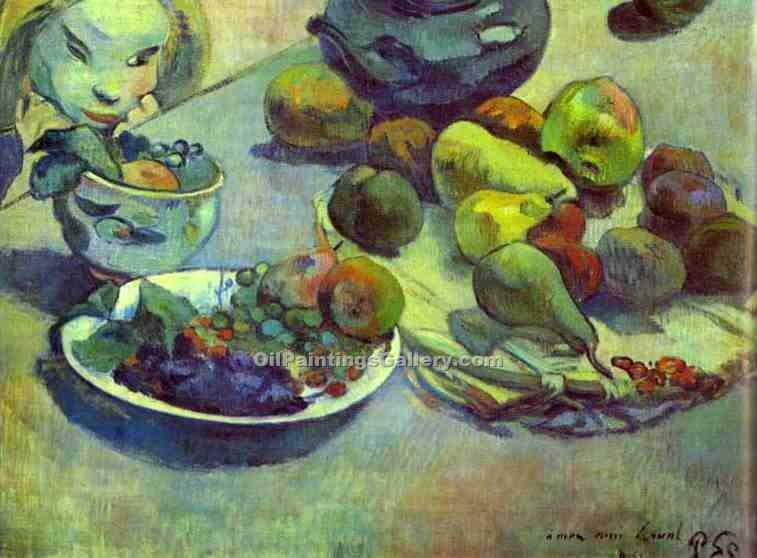 """Fruit 14"" by  Paul Gauguin"