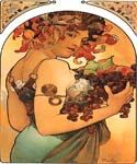 Fruit 20 by  Alphonse Maria Mucha (Painting ID: CL-2020-KA)